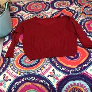 Red v neck sweater from gap